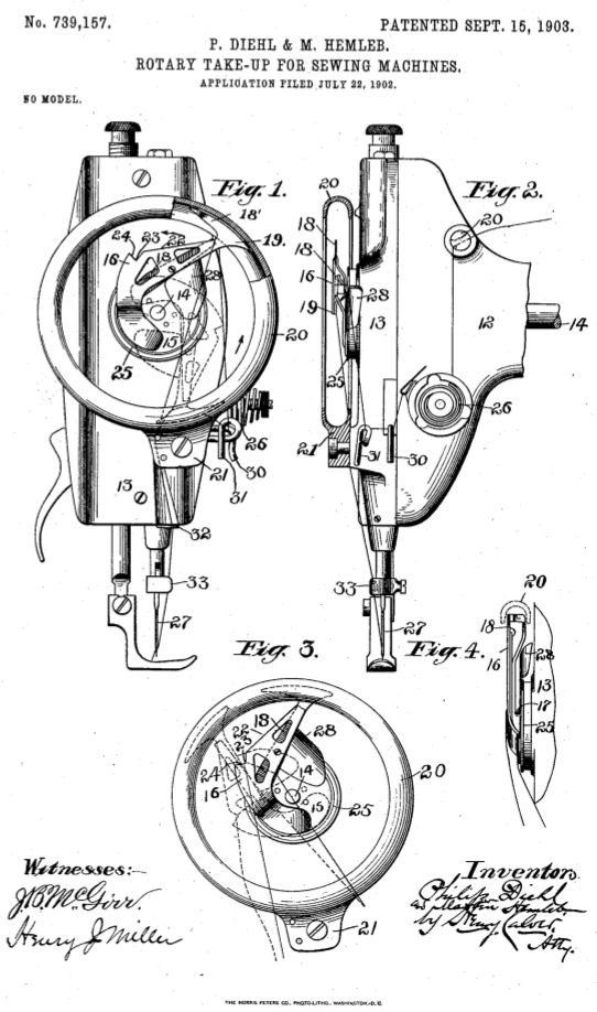 Singer, #Patent, Nähmaschine, sewing machine, couseuse