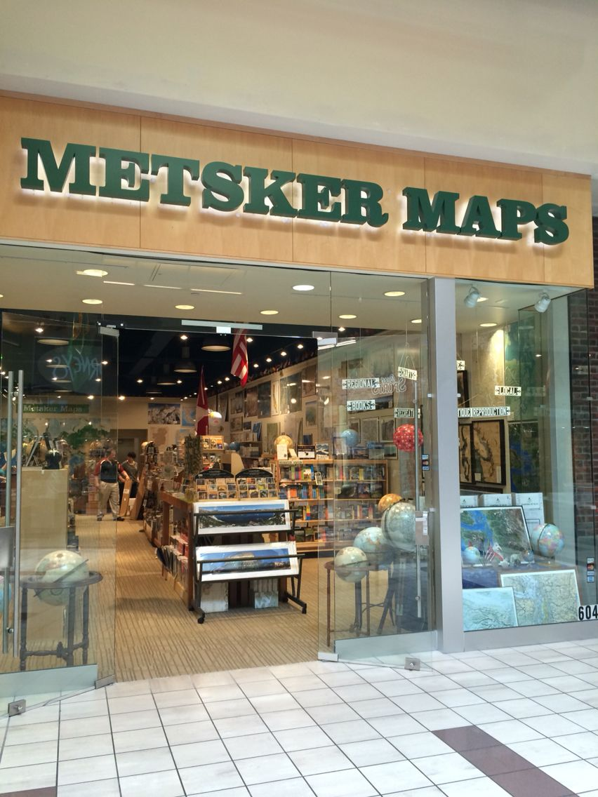 Seattle Map Funny%0A Metsker Maps at Alderwood Mall  Located near the food court