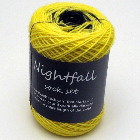 Nightfall Fingering Sock Set in Yellow
