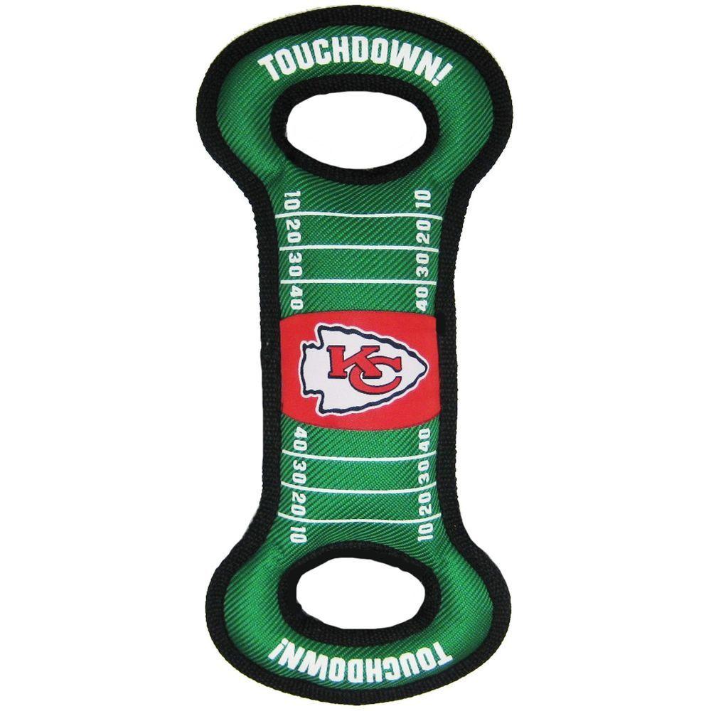Kansas City Chiefs NFL Football Field DOG TOY W Squeaker