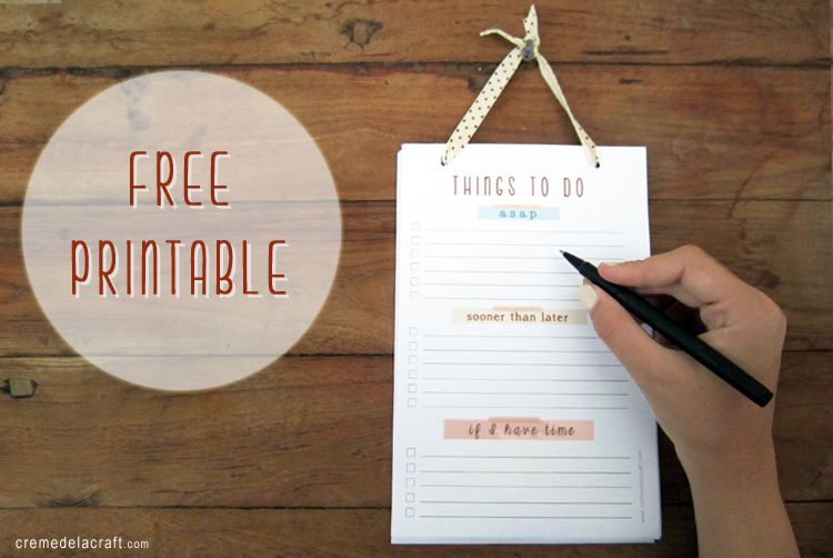 Diy To Do List Notepad With Free Printable List Notepad To Do List Note Pad