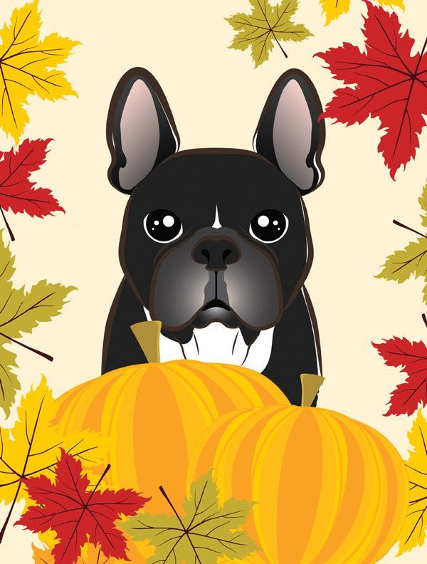 French Bulldog Thanksgiving Flag Garden Size BB2033GF