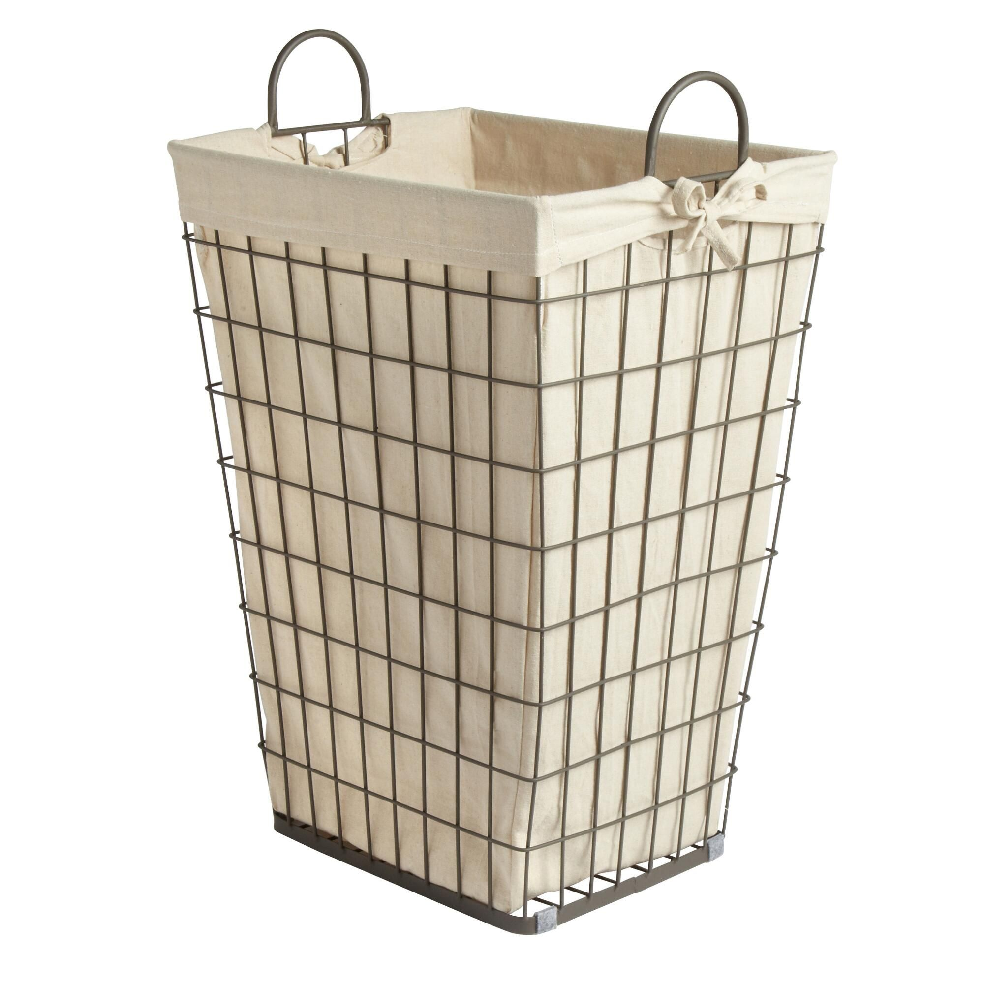 Nice Wire Hamper For Furnishing Your Laundry Room Furniture Idea