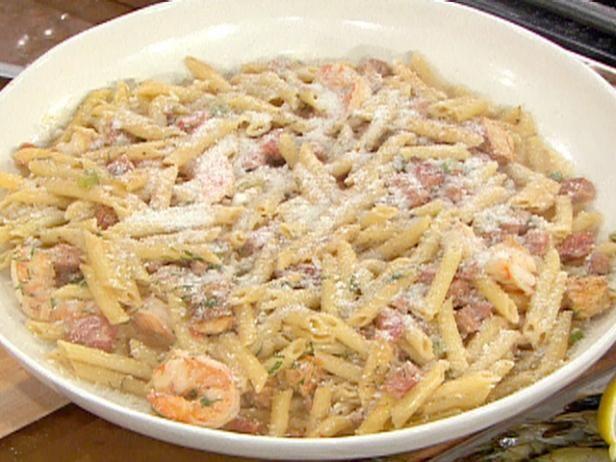 Jambalaya pasta with penne chicken shrimp and andouille recipe get jambalaya pasta with penne chicken shrimp and andouille recipe from food network forumfinder Choice Image