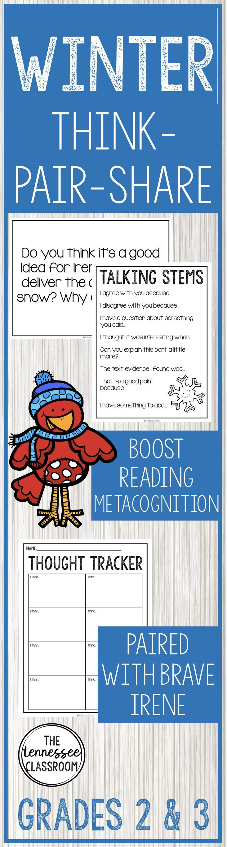 Winter Reading and Writing: Think-Pair-Share for Brave Irene ...