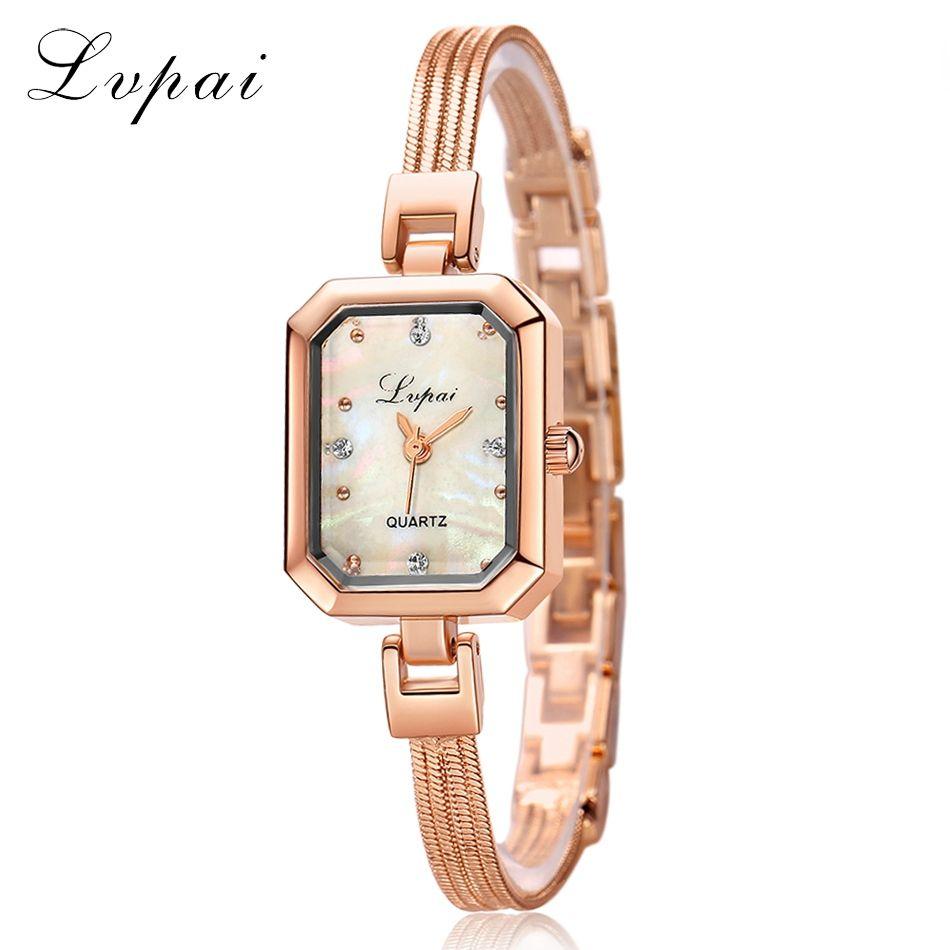 Click to buy ucuc lvpai brand women fashion luxury watch rose gold