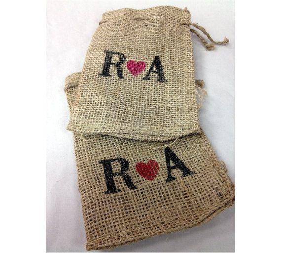Wedding favor Bags Custom Burlap Bags 25 4x6 Perfect for DIY monogramed wedding favors --9918