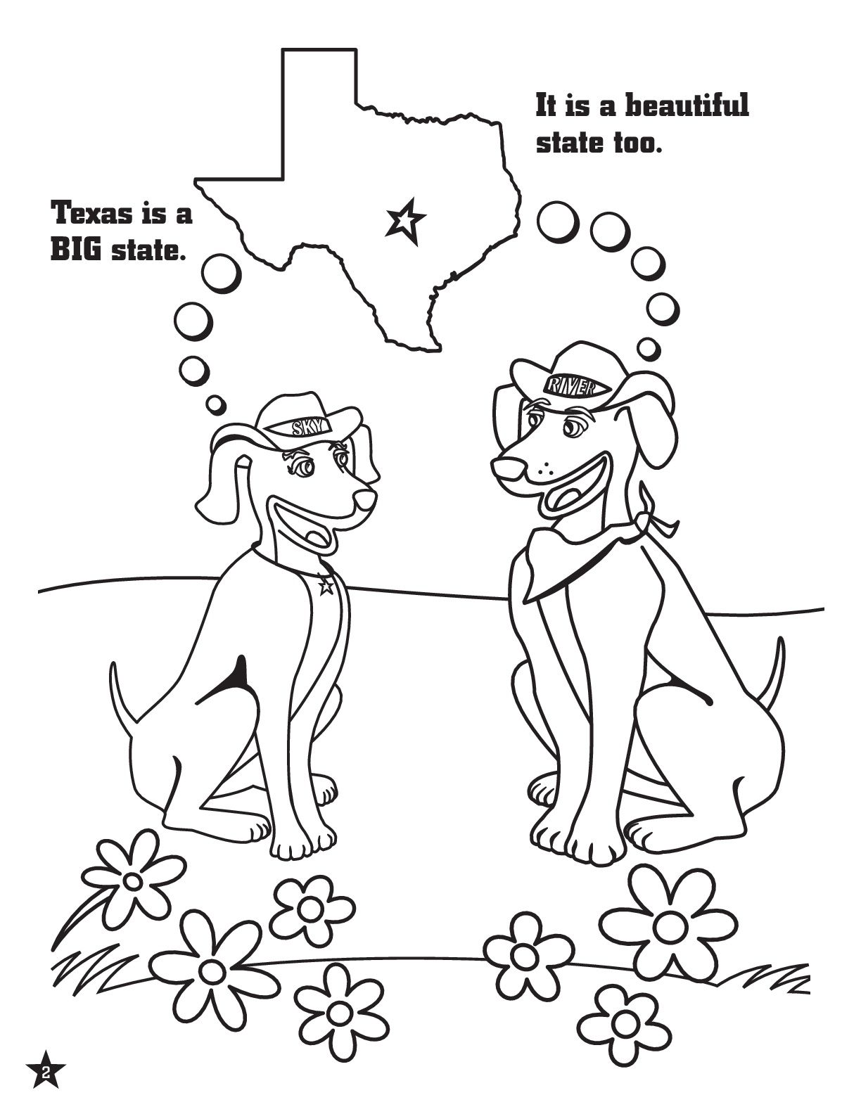 Take Care Of Texas Coloring Page