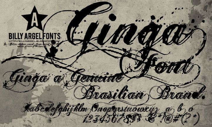 Ginga font dafont.com instruction:use the symbols u003e and u003c to form