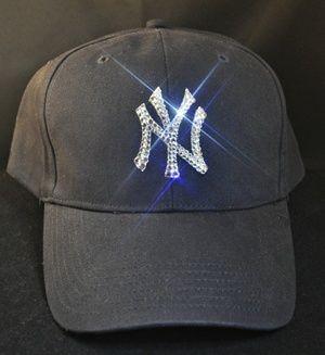 b197bc92a4d New York Yankees Bling Swarovski Crystal Rhinestone Womens Hat.  www.babywantsbling.com