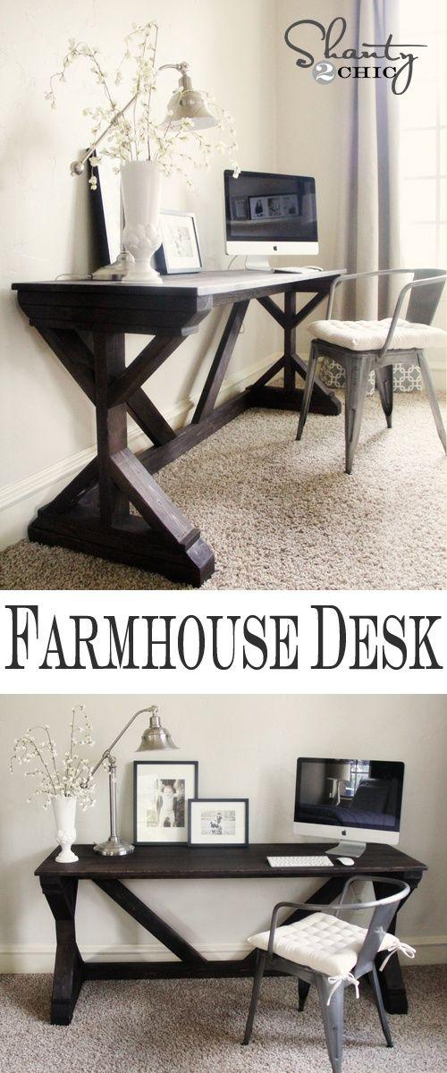 Farmhouse X Desk Printable Plans in 2020 Farmhouse