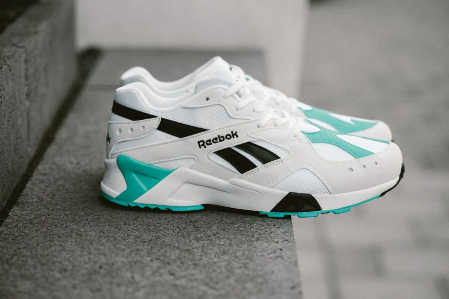 99ddae5585f Reebok Aztrek OG White Solid Teal Black (CN7067) - Side ...