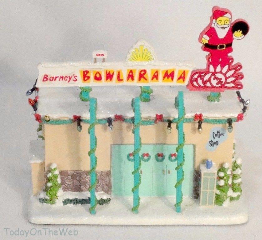 Simpsons Christmas Village.Simpsons Christmas Hawthorne Village Barney S Bowl A Rama