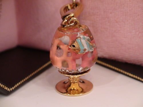 Juicy Couture Fishbowl Charm Murano Style Fishbowl Motif Rare Very Collectible