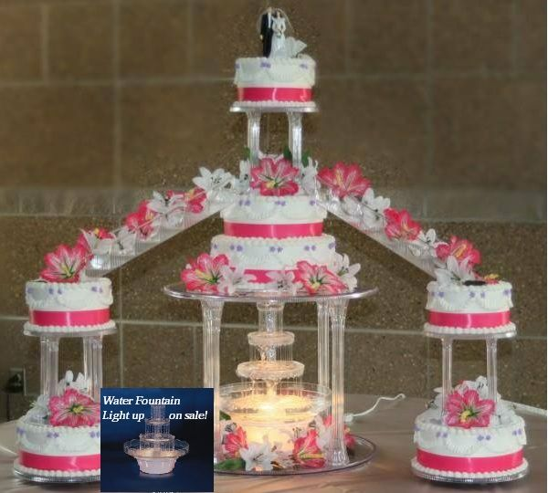 pictures of wedding cakes with fountains and stairs quinceanera cakes fountains stairs wedding staircase 18474
