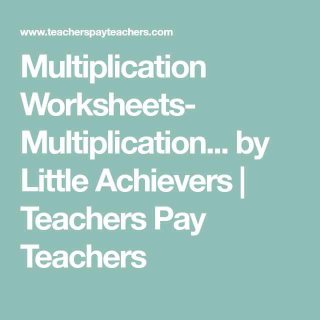 Multiplication Worksheets- Multiplication Facts Practice Times ...