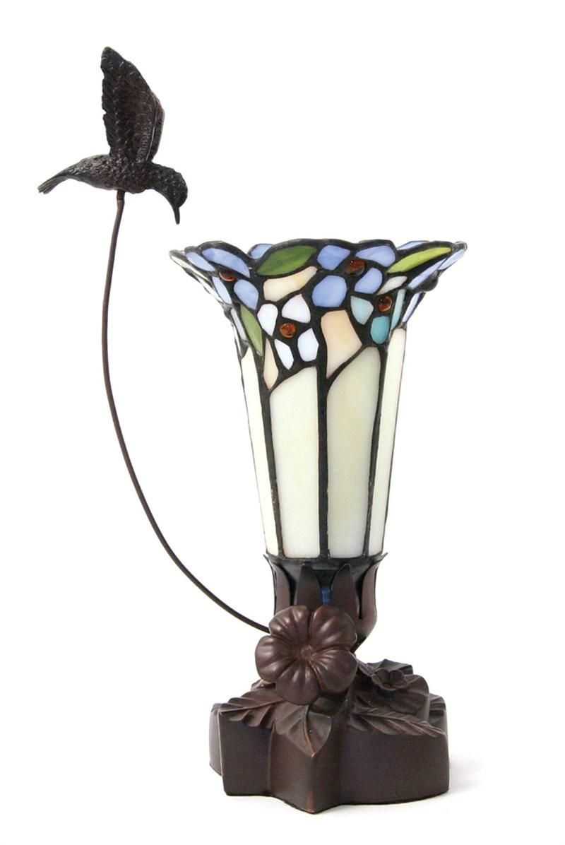 Tiffany Style Lamps Clearance Light Of Remembrance Blue Lamp With Hummingbird