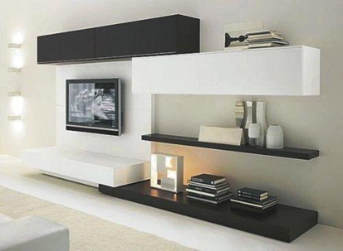 sala de tv moderna pequeña - Buscar con Google Muebles tv y