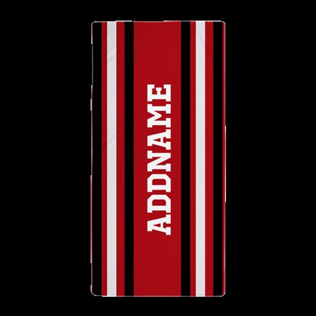 Custom Red White Black Stripes Beach Towel Pinterest