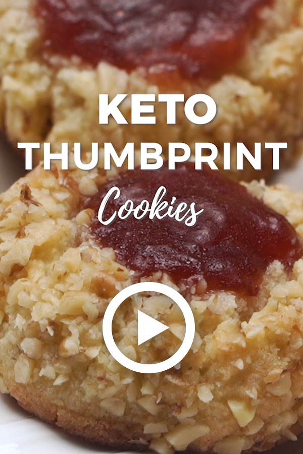 Keto Thumbprint Cookies - Low Carb #ketocookierecipes