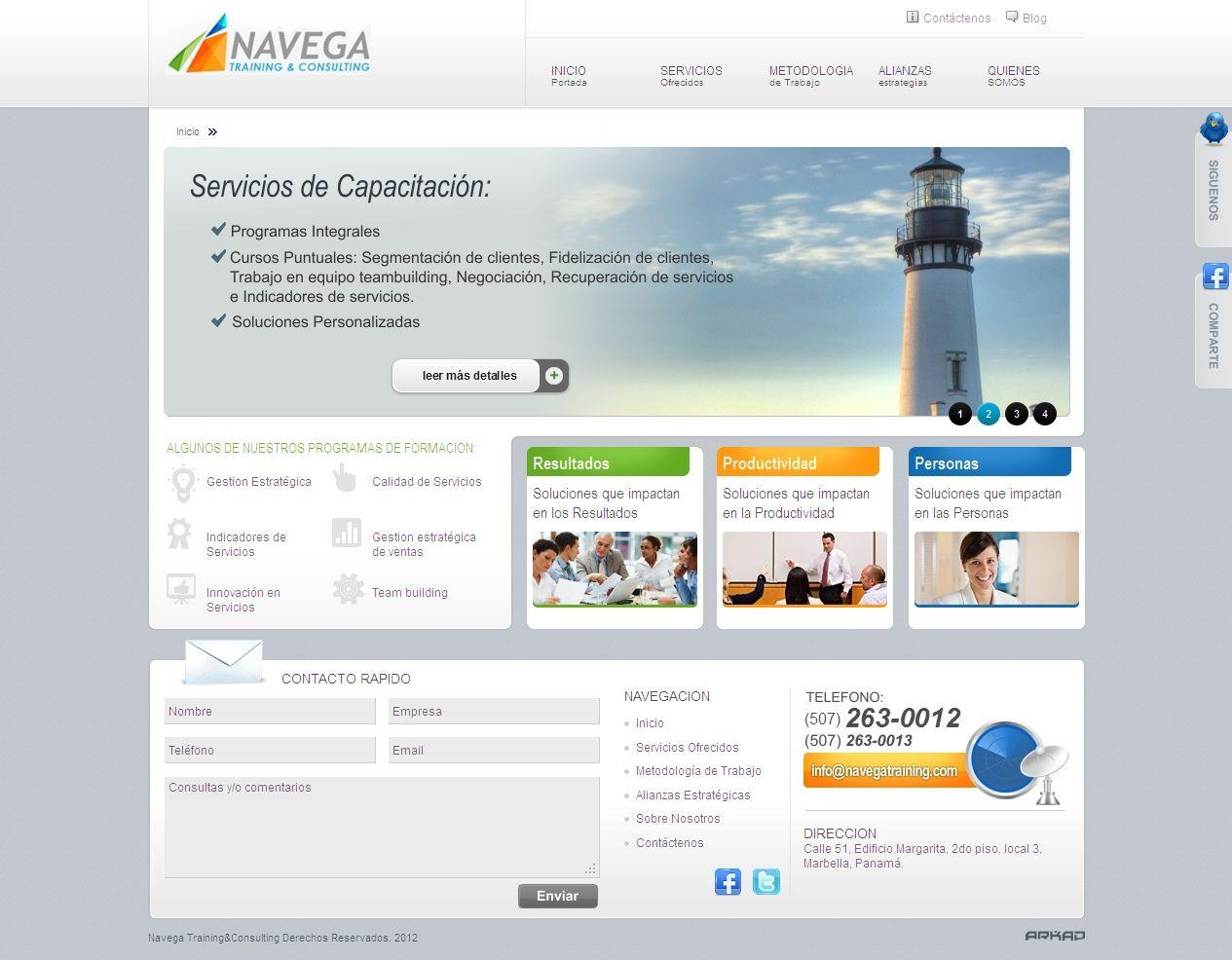 Diseño web - Navega