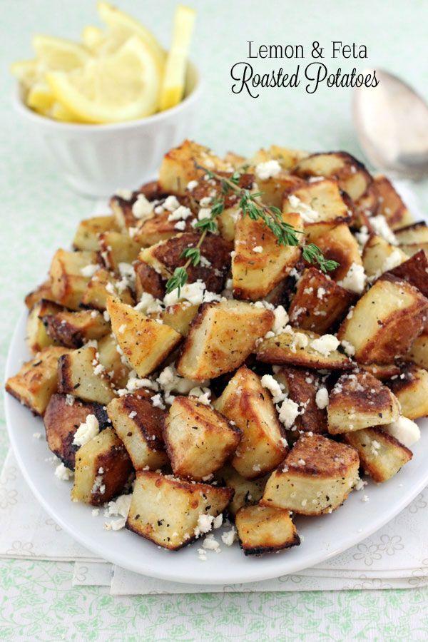 Lemon and Feta Roasted Potatoes.