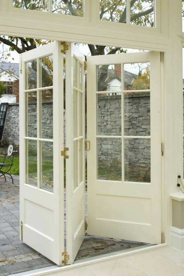 Les Portes Pliantes Design En Photos Porte En Verre Bois - Porte placard coulissante jumelé avec serrurier sevres