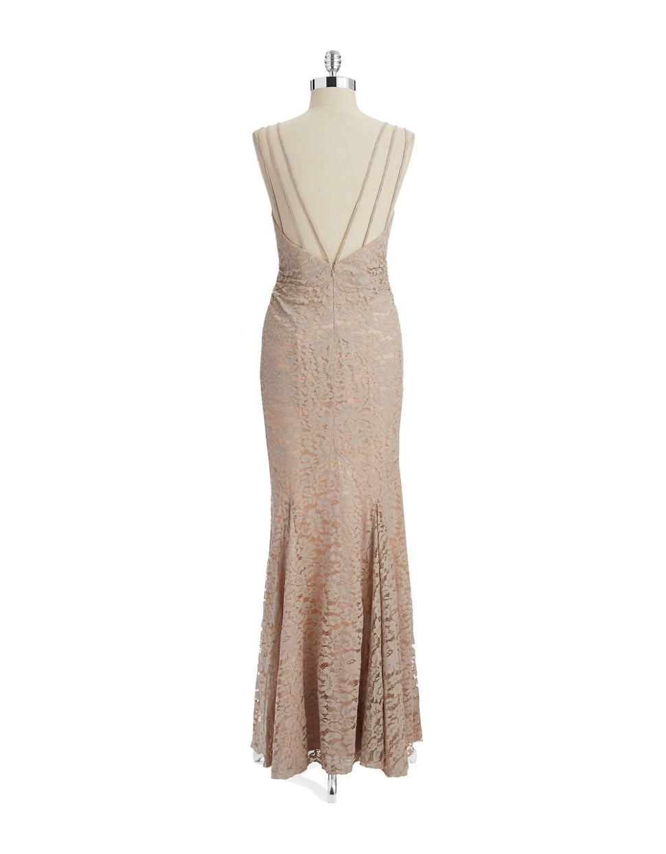 Brands | Formal/Evening | V Neck Lace Gown | Lord and Taylor ...