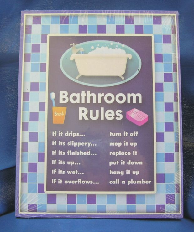 Kitchen Courtesy Signs: Humorous Bathroom Rules Signs - Google Search