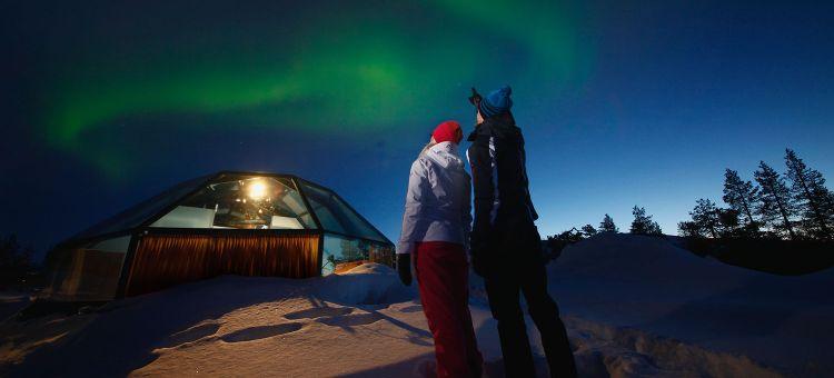Viaje Laponia fin de año esquí aurora boreal