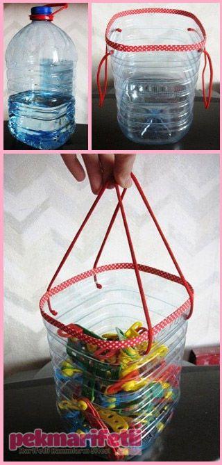 Oyuncak torbası olarak kullanılabilir   Geri Dönüşüm   Pek Marifetli! *Ben mandal kutusu olarak kullanırdım