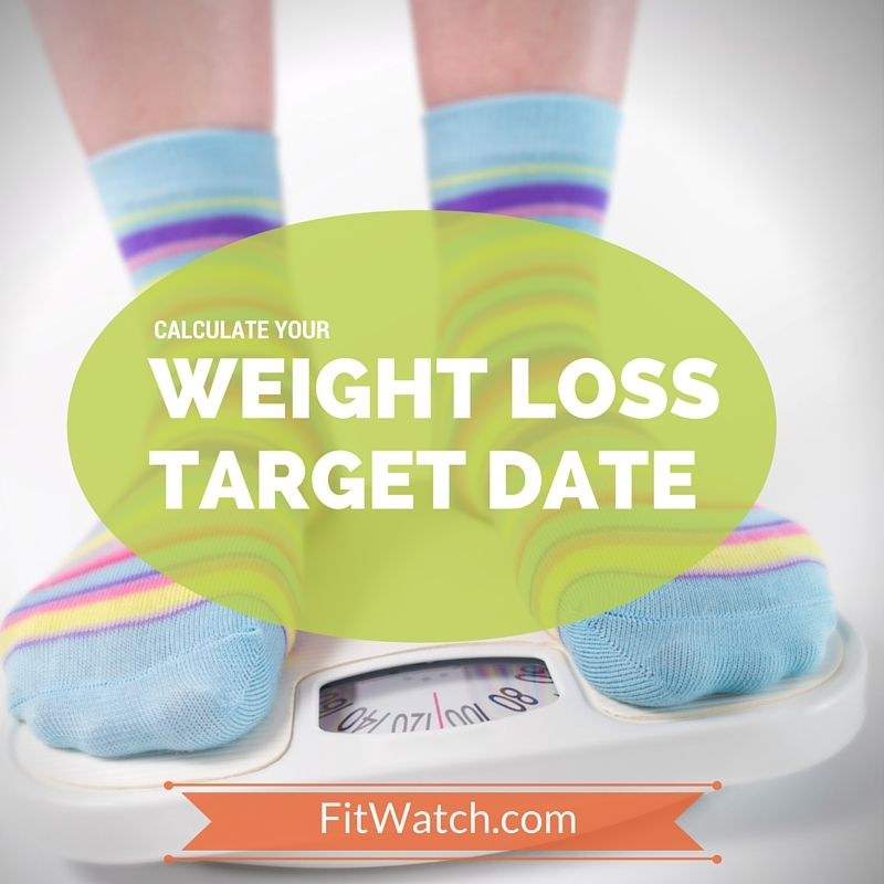 Calculate a weight loss target date; gives you six