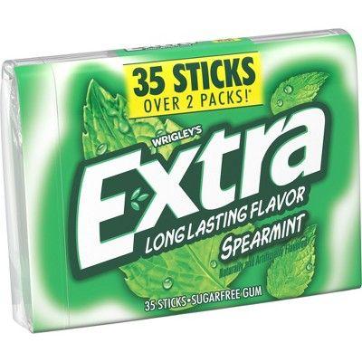 Extra Spearmint Sugarfree Gum 35ct Extra gum, Gum