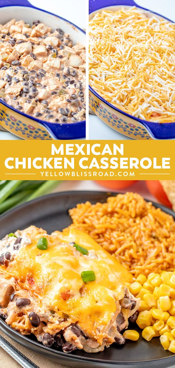 Mexican Chicken Casserole #mexicanrecipeswithchicken