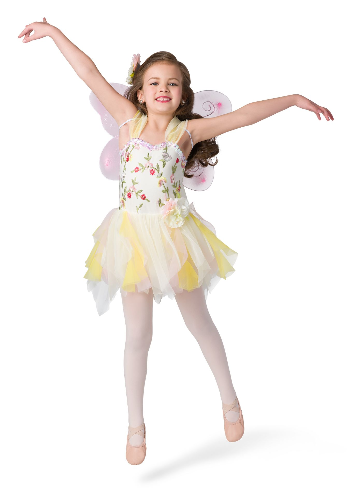 New Ballet Pageant Costume Organdy 3 Layer Attached Tutu Multicolor Sequin
