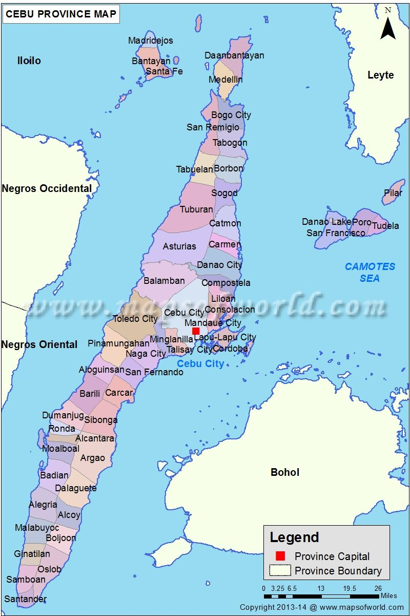 Cebu Map Cebu Philippines Map