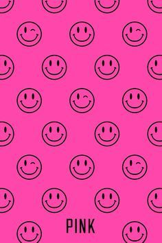 Smiley Face Pink Wallpaper Pink Wallpaper Iphone Pink Nation Wallpaper Victoria Secret Wallpaper