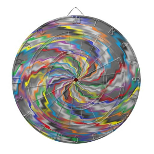 Flourishing Colors Dartboard