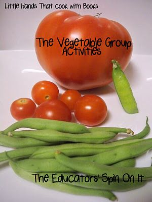 Little Hands that Cook- Vegetable Group Fun with activities, recipe, song and printable food tracker @theeducatorsspinonit.blogspot.com