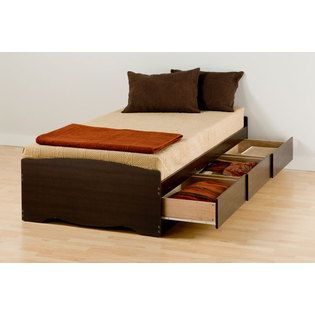 AT HOME by O Espresso Twin XL Mate's Platform Storage Bed with 3 Drawers at Sears.com