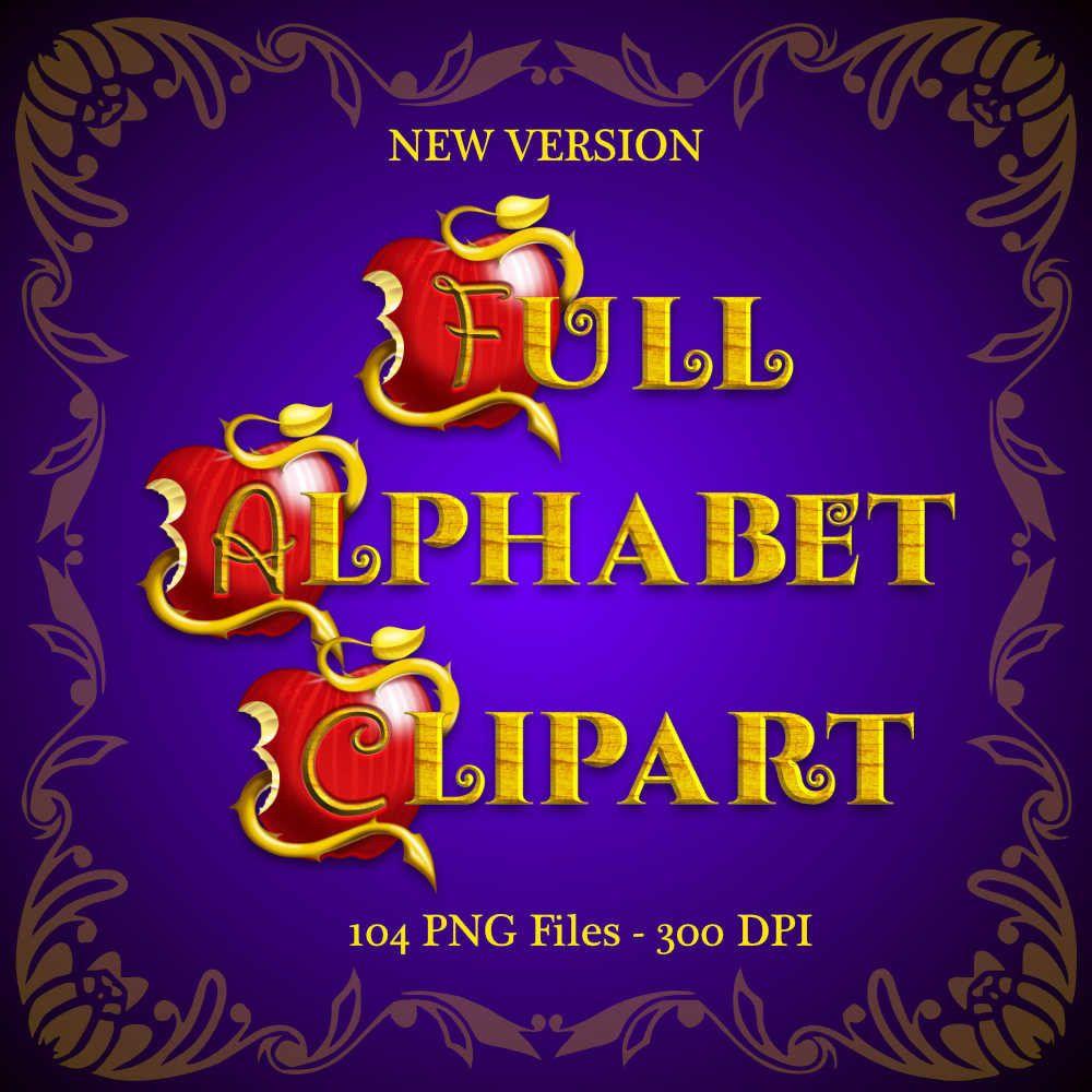 Descendants Full Alphabet Clipart 3 Alphabets 104 png