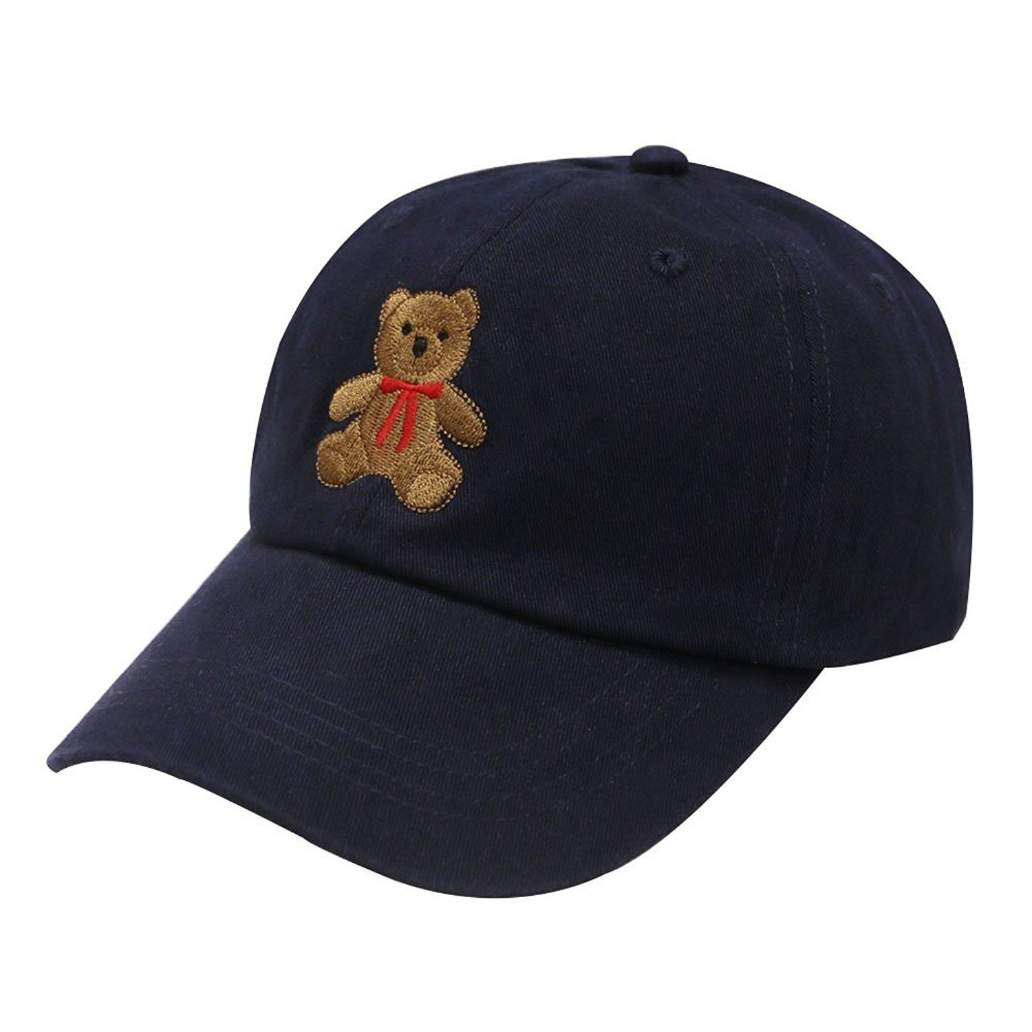 C104 Teddy Bear Cotton Baseball Cap 14 Colors - Navy - C112LC6Z1XD - Hats    Caps b7c1a3f324d
