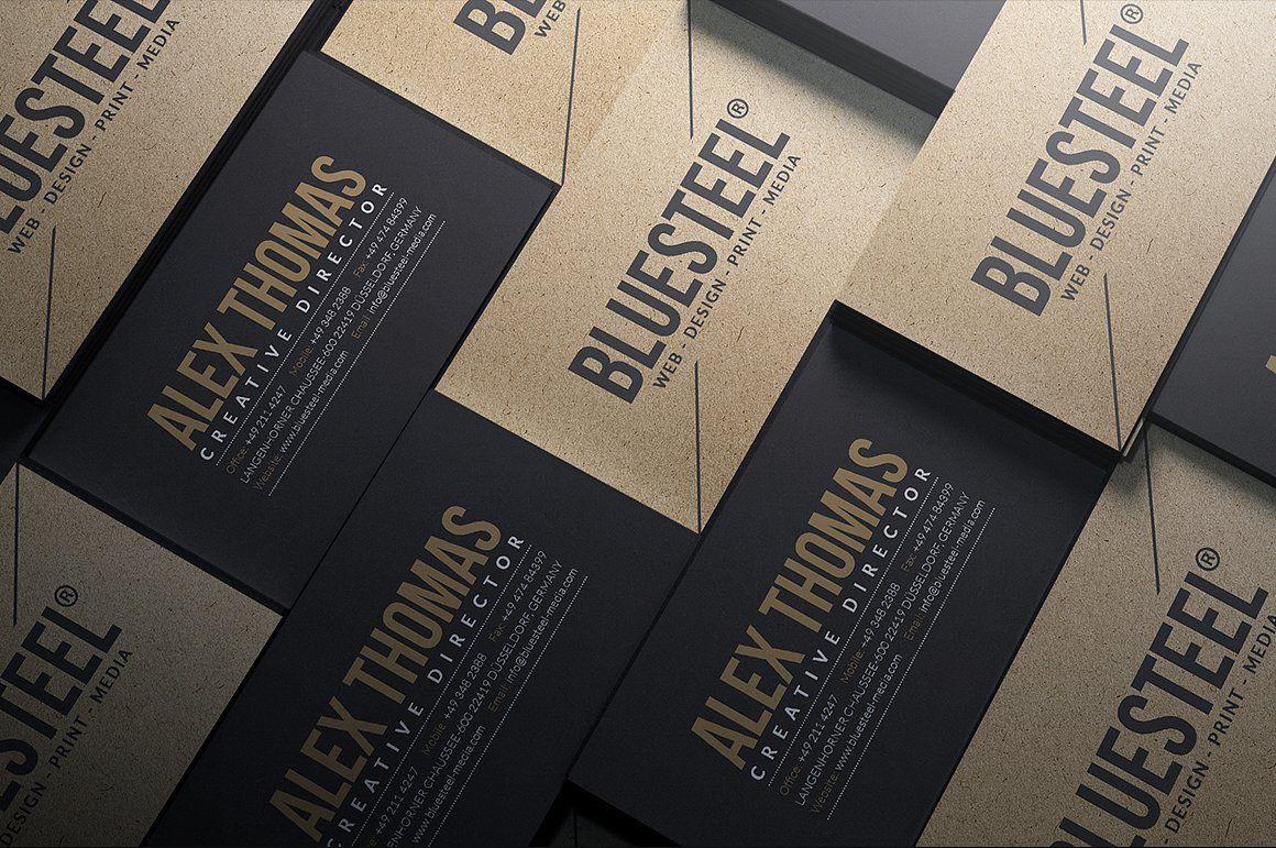 Kraft Paper Business Cards Bundle by Marvel on @creativemarket ...