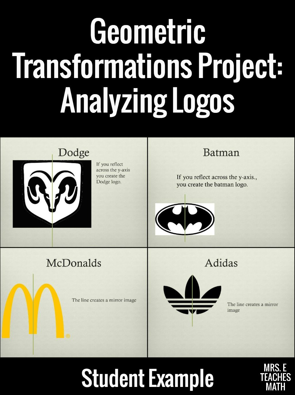 Transformations Logo Project Teaching Math Transformations Math Math Projects [ 1372 x 1024 Pixel ]