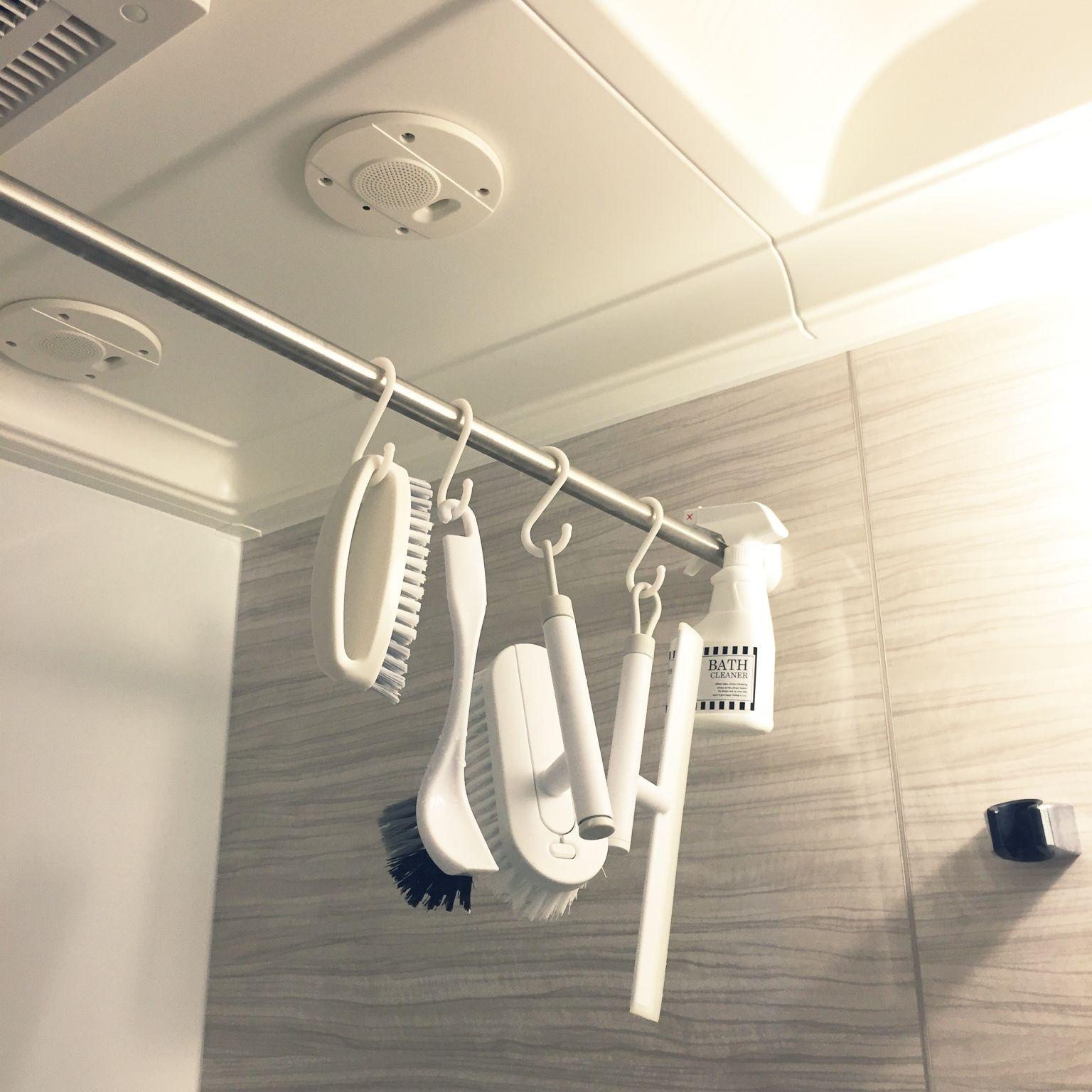 バス トイレ サウンドシャワー 白が好き ラベル ホワイトインテリア