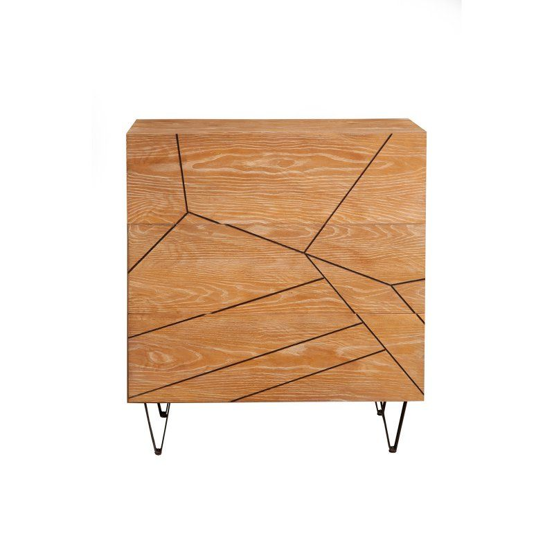 Alpine Furniture Trapezoid 3 Drawer Small Chest Products Alpine