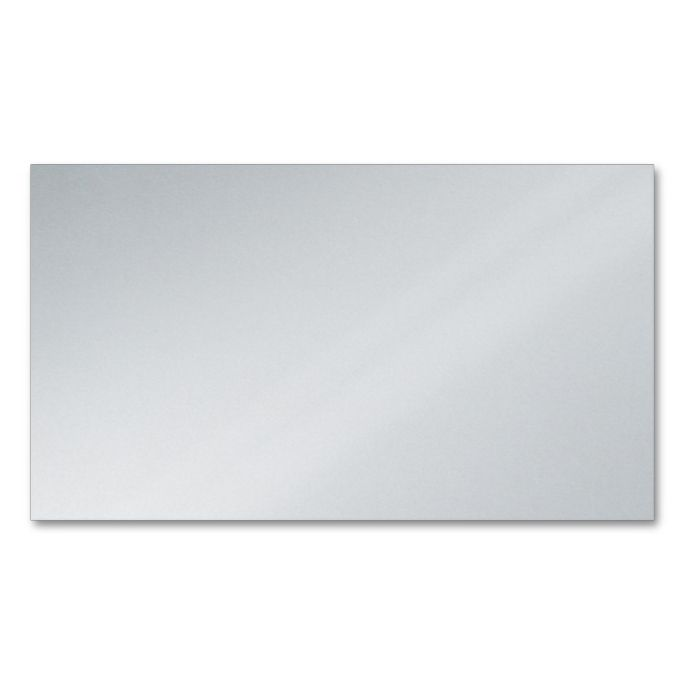 Blank Platinum Metallic Silver Business Card Business Card  It