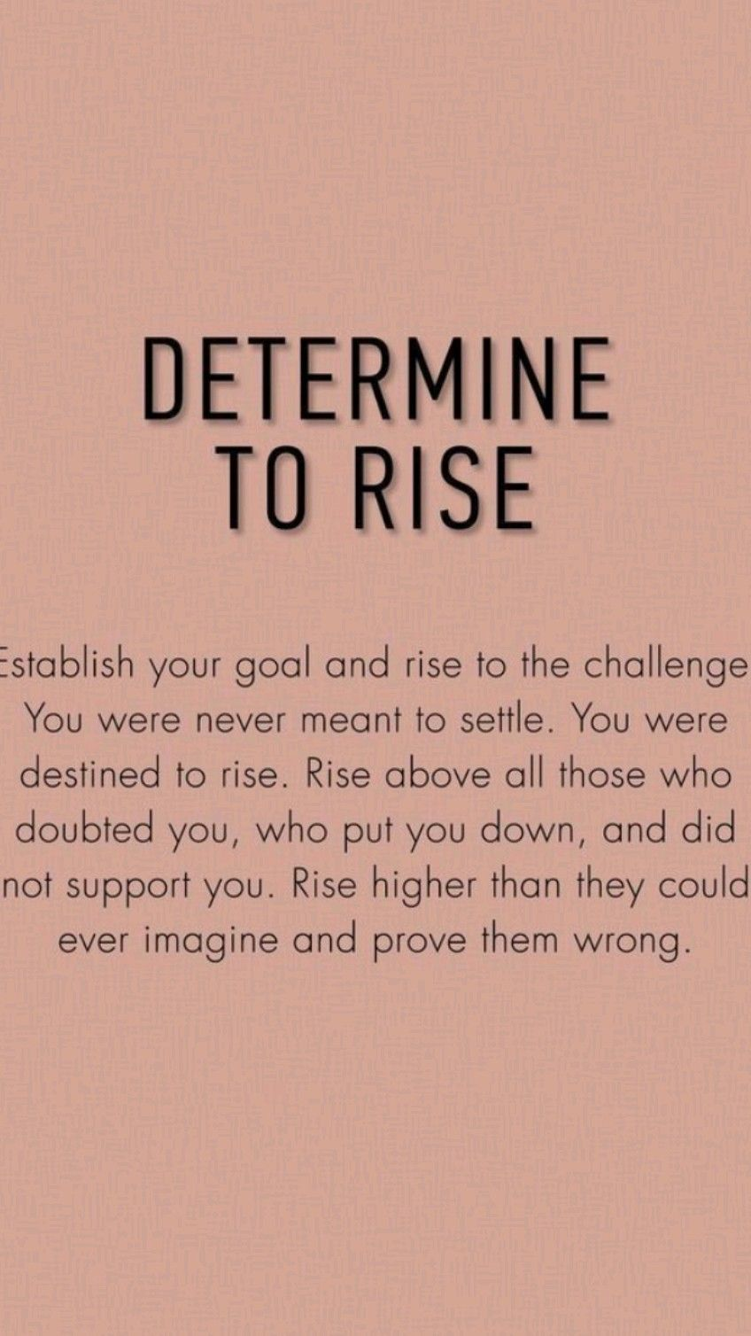 You may have fallen but now it's your time to RISE!