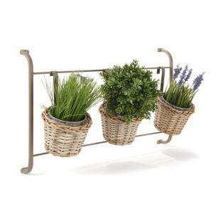 support mural pour plantes et 3 cache pots gris inca les cache pots les cache pots et. Black Bedroom Furniture Sets. Home Design Ideas