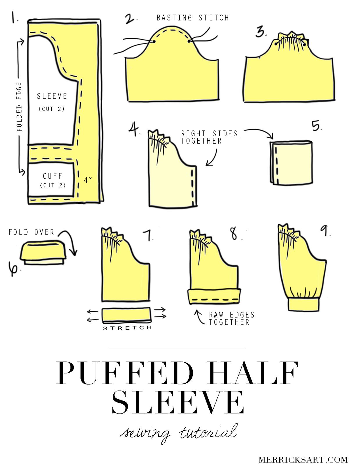 DIY FRIDAY: PUFFED HALF SLEEVE TUTORIAL | sewing n patterns ...